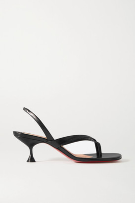 Christian Louboutin Taralita 55 Leather Slingback Sandals - Black
