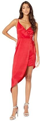 BCBGeneration Asymmetrical Side Tie Dress TLC6245022 (Marine Blue) Women's Dress