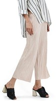Topshop Pleated Crop Trousers