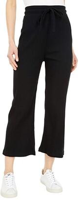 Hurley Knit Crop Pants (Black) Women's Casual Pants