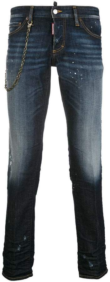 DSQUARED2 chain slim jeans