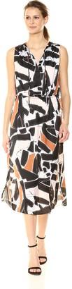 Kenneth Cole Women's Triple Tie Column Dress