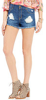 GB High-Waist Distressed Cutoff Jean Shorts