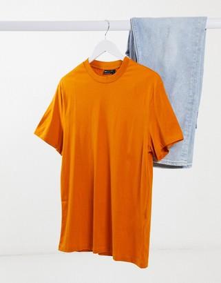 ASOS DESIGN organic t-shirt with crew neck in rust