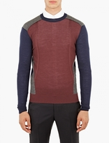 Wooyoungmi Panelled Wool Sweater
