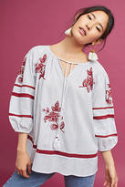 Velvet by Graham & Spencer Ola Embroidered Peasant Top