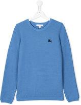 Burberry round neck jumper - kids - Cotton - 14 yrs