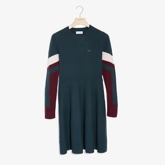 Lacoste Women's Color Block Stripe Polo Dress