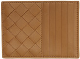 Bottega Veneta Tan Intrecciato Multi Card Holder