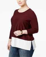 Style&Co. Style & Co. Plus Size Layered-Look Sweater, Only at Macy's