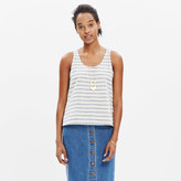 Madewell Sundown Tank Top in Ikat Stripe
