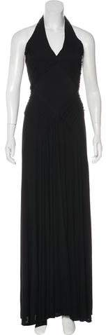 Azzaro Halter Evening Dress