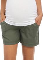 Motherhood Secret Fit Belly Cargo Pockets Maternity Shorts