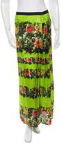 L'Autre Chose Dark Floral Silk Skirt