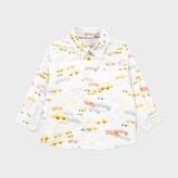 Paul Smith Baby Boys' White Car Print 'Moreno' Shirt