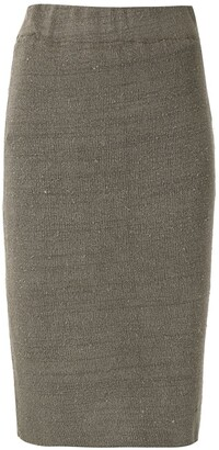 OSKLEN Metallic Threading Knitted Skirt