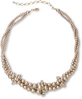 JCPenney Vieste Silver-Tone Pearlized Glass Bead Twist Necklace