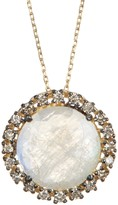 Suzanne Kalan 14K Yellow Gold Moonstone & Diamond Pendant Necklace