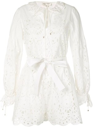 ZUHAIR MURAD Ruffle Tie-Waist Shirt Dress