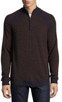 Robert Graham Jovanni Two-Tone Half-Zip Sweater