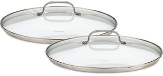 Cuisinart Chef Classic Stainless Steel 2-Pc. Glass Lid Set