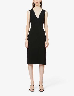Diane von Furstenberg Magdalena V-neck crepe midi dress