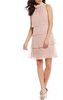 Jessica Howard Mockneck Tiered Dress