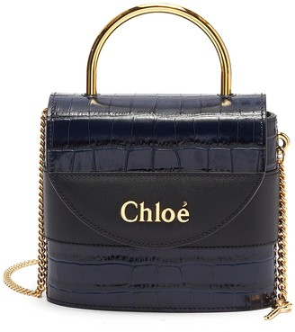 Chloé 'Abylock' croc embossed leather handle bag