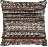Toyine Sellers Chenille-Striped Woven Pillow-IVORY