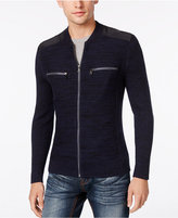INC International Concepts Men's Manchester Heathered Mixed Media Sweater, Only at Macy's