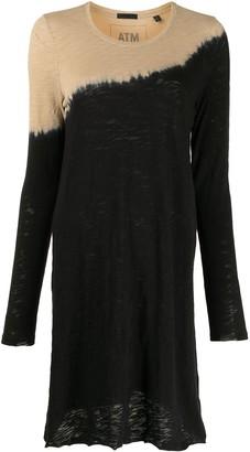 ATM Anthony Thomas Melillo Dip-Dye Mini Dress