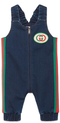 Gucci Baby jersey denim overall