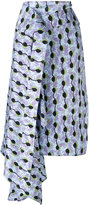 Marni asymmetric printed skirt - women - Silk - 40