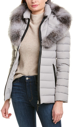 Mackage Kadalina Leather-Trim Down Jacket