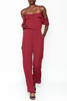 Everly Deep Red Jumpsuit