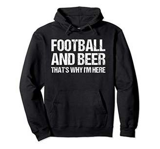 Tailgate FOOTBALL AND BEER Funny Drinking Gift Mens Womens Pullover Hoodie