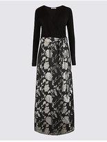 Per Una Jacquard Wrap Flock Maxi Dress
