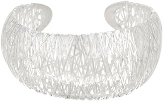 UltraFine Silver Large Bold Wire Wrapped Cuff, 27.0g
