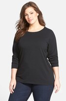Sejour Plus Size Women's Forward Shoulder Tee