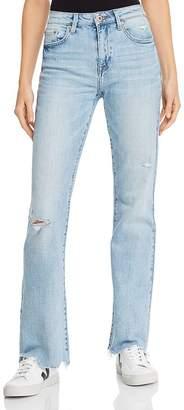 Pistola Denim Dew Vintage Distressed Flared Jeans in Surreal
