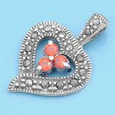 Glitzs Sterling Silver Pendant WithMarcasite- Heart