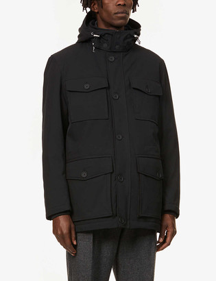 Oscar Jacobson Colton funnel-neck shell coat