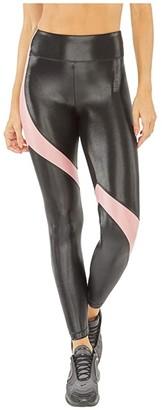 Koral Venus Infinity High-Rise Leggings (Black/Rosa) Women's Casual Pants