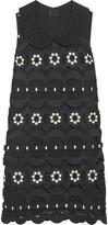 Anna Sui Daisy Swirl guipure lace mini dress