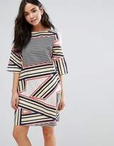 Orion Elsa Stripe Print Shift Dress