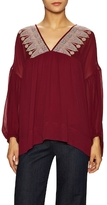 Plenty by Tracy Reese Embroidered V-Neck Blouse