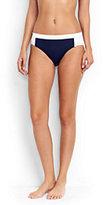 Lands' End Women's Mid Waist Bikini Bottoms-Scuba Blue