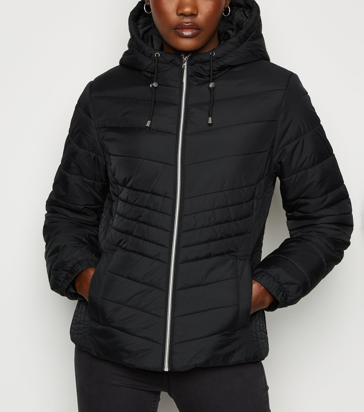 New Look Lightweight Hooded Puffer Jacket