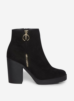 Dorothy Perkins Womens Black 'Abby' Chunky Boots, Black