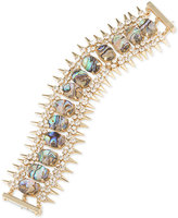 ABS by Allen Schwartz Gold-Tone Spike, Crystal & Colored Stone Flex Bracelet